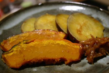 カボチャとサツマイモ&健康味噌