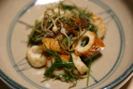 野蒜と竹輪の酢味噌和え