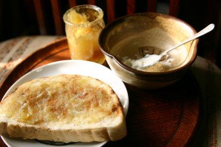 サツマイモとリンゴのジャム+マスカルポーネのトースト