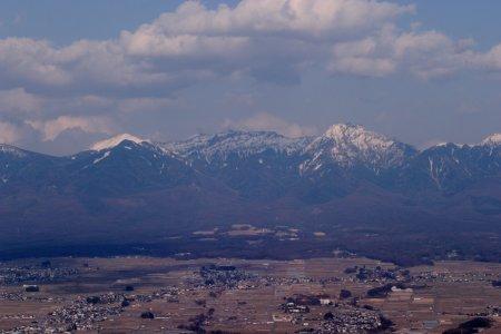 杖突峠から見た八ヶ岳連峰
