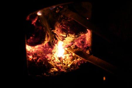 燃える珈琲豆