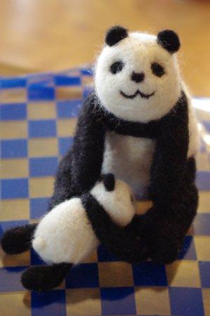 らしゃ亭さんの羊毛パンダ