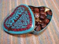 ハート缶のチョコレート